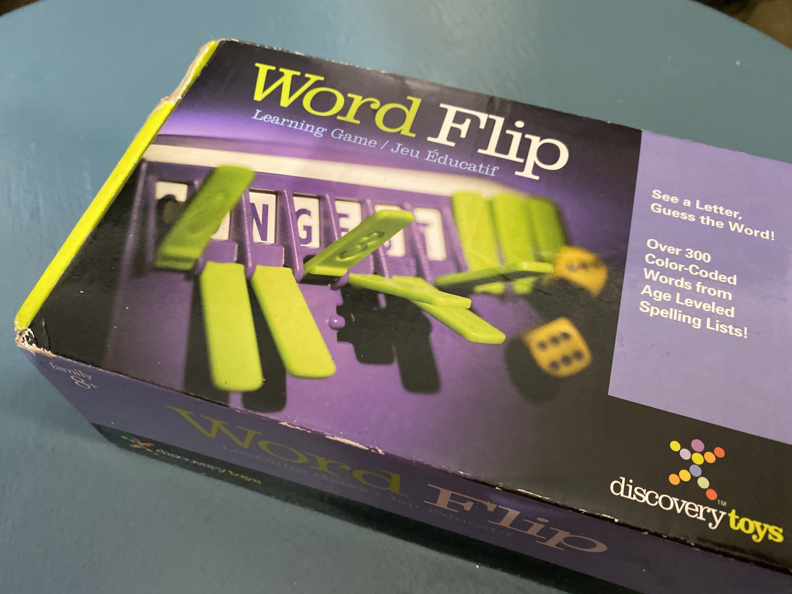 Word Flip Game in box