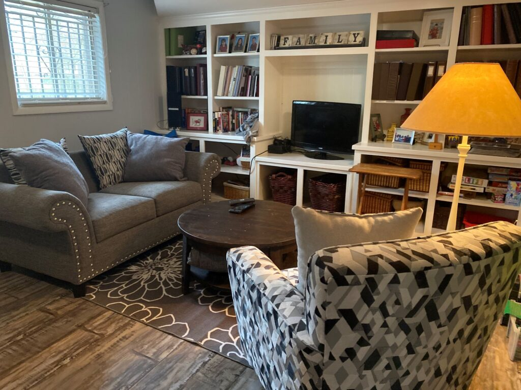 Rec room seating area
